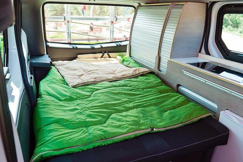 Miljøvennlig alternativ:: Nissan med elektrisk campingbil