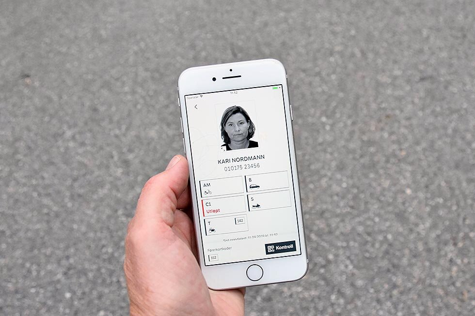 Kan det digitale førerkortet brukes som legitimasjon?